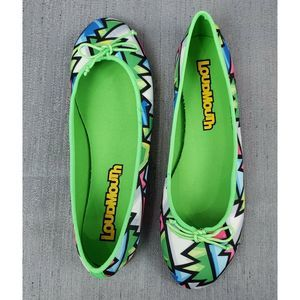 Loudmouth Crystal Bella Slip-On Flats New